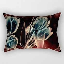 Blaue Tulpen Rectangular Pillow