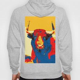 Spanish Bull Fighting festival running cow animal Art Print Hoody