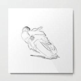Cycle Turn - MotoGP Metal Print
