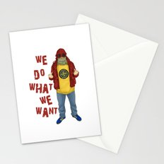 We Do What We Want Stationery Cards