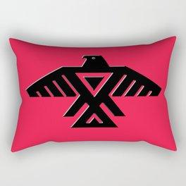 Thunderbird flag - Black on Red variation Rectangular Pillow