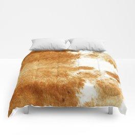 Golden Brown Cow Hide Comforters