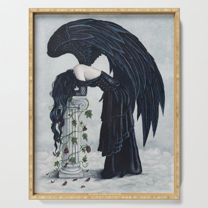 Despair Gothic Angel Serving Tray
