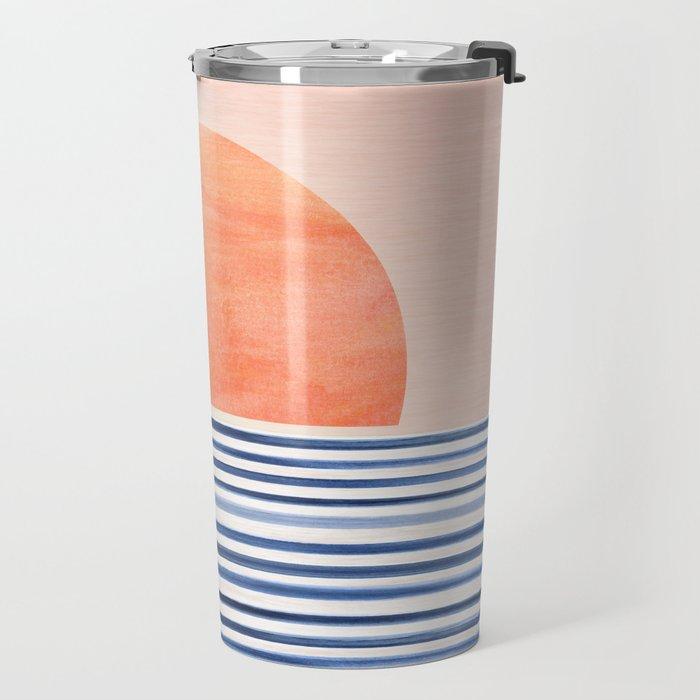 Summer Sunrise - Minimal Abstract Travel Mug