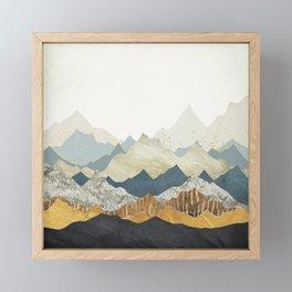 Distant Peaks Framed Mini Art Print