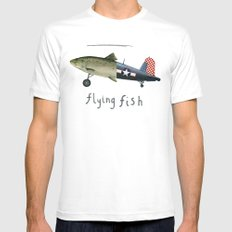 flying fish White Mens Fitted Tee MEDIUM