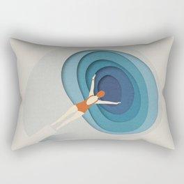 Dive Into Blue Rectangular Pillow