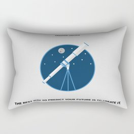 Lab No. 4 - The Future Is To Create It Abraham Lincoln Motivational Quotes Poster Rectangular Pillow