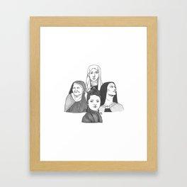Women Doctors of the Church Framed Art Print
