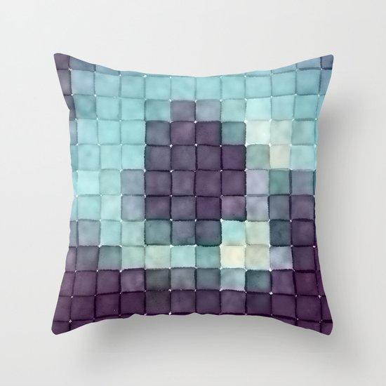 Polaroid Pixels II (Tree) Throw Pillow