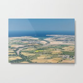 Aerial Views over North Cornwall - Padstow and Rock Metal Print