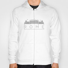 Linear Rome Skyline Design Hoody