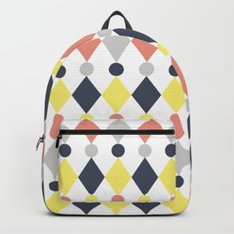 Rhombus and circle pattern Backpack