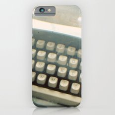 Blue Typewriter TTV Slim Case iPhone 6s