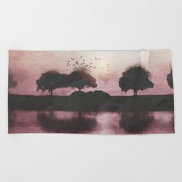 Positive Sunset Beach Towel
