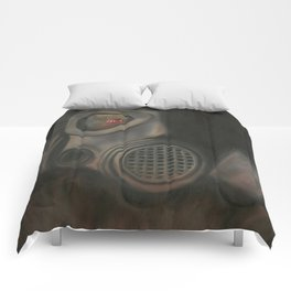 Freak Show Gas Mask Oil Painting Comforters