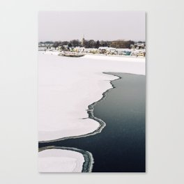 Frozen Ottawa River Canvas Print