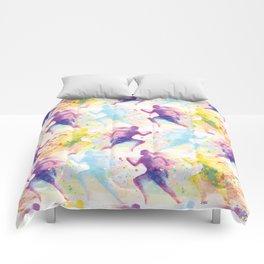 Watercolor women runner pattern Comforters