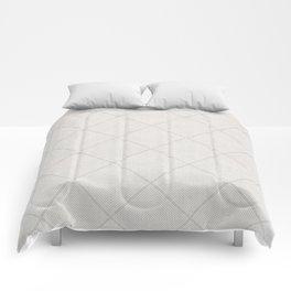 Stitched Diamond Geo in Grey Comforters