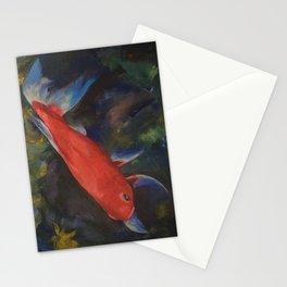 Haiku Koi Fish Stationery Cards