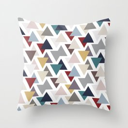 Scatter triangles Throw Pillow
