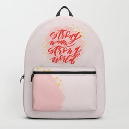Strong Women Strong World Backpack