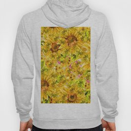Yellow Floral Pattern (Color) Hoody
