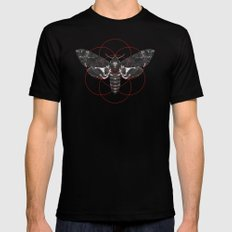 Sacred Death's-head Hawkmoth Black LARGE Mens Fitted Tee