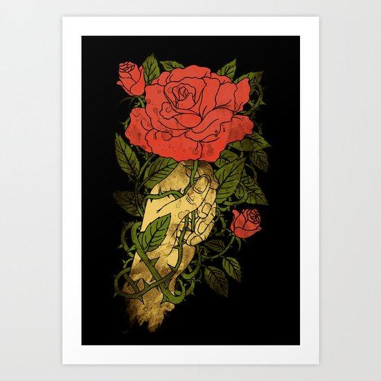 rose in my hand 2.0 Art Print