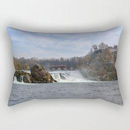 Red Arrow At Rhine Falls Rectangular Pillow