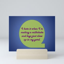 Milkshake Typeography Mini Art Print