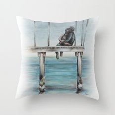 Do You Remember We Were Sitting There Throw Pillow