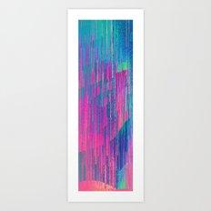 reign of glitch Art Print
