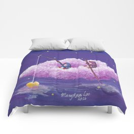Penguins Sail Through the Stars on Their Cloud of Love Comforters