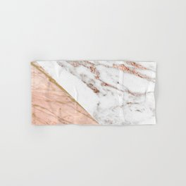 Marble rose gold blended Hand & Bath Towel
