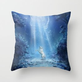 A wolf's tale Throw Pillow