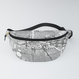 Minneapolis White Map Fanny Pack