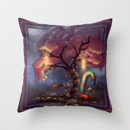 Candy Wonderland Tree Throw Pillow