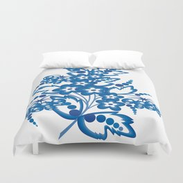 Abstract floral branch Duvet Cover