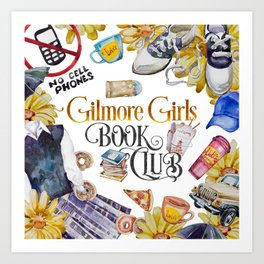 GG Book Club WhiteBG Art Print