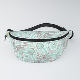 Light turquoise ethnic. Fanny Pack