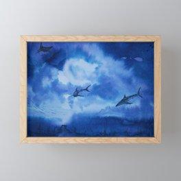 Ink sharks Framed Mini Art Print