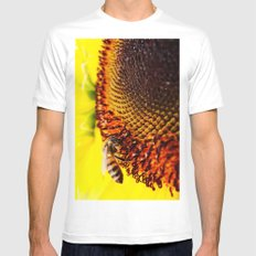 Busybee Mens Fitted Tee MEDIUM White