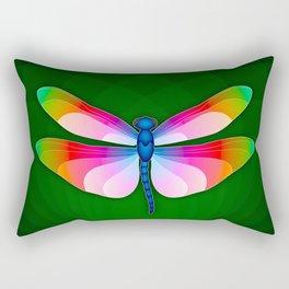 Paper Craft Dragonfly Rectangular Pillow