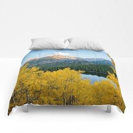 BEAR LAKE COLORADO AUTUMN ROCKY MOUNTAIN NATIONAL PARK FALL LANDSCAPE PHOTOGRAPHY Comforters