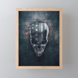 American Horror in Metal Framed Mini Art Print