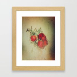 Vintage Red Roses Framed Art Print