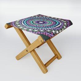 Dotted Mandala Folding Stool
