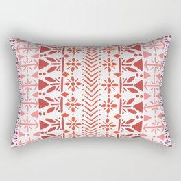 Norwegian Pattern – Reds & Corals Rectangular Pillow