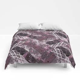 Combined ethnic pattern. Patchwork. Comforters